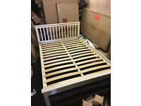Novara king size bed New No Mattress ivory colour