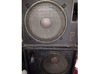 Unbranded PA speakers