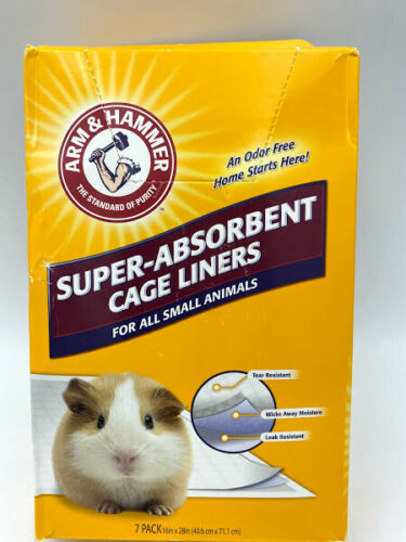 Arm  Hammer for Pets Super Absorbent Cage Liners, 7 Count, OPEN BOX