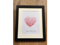 3D personalised heart shaped butterfly picture. Mothers day gift