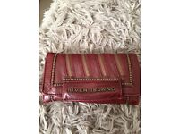 River Island red leather purse