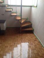 Sablage , installation plancher à partir 1,25$  pi2  laval et +
