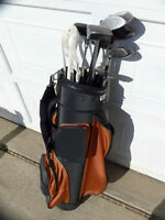 New golf bag and used clubs, see other links