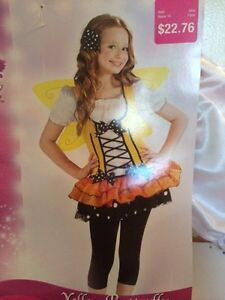 Yellow butterfly costume. Never worn size 8-10