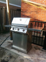 Stainless Steel BBQ with cylinder
