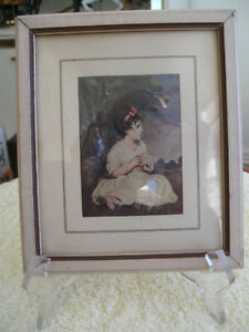 An INTERESTING LITTLE OLD-FASHIONED FRAMED PRINT