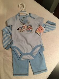 Infant boys 4-piece outfit, 9 months