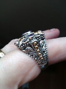 Sterling silver amethyst with 18K gold accents ring Kingston Kingston Area image 2