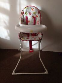 Redkite little bugs high chair