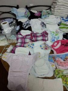 Cloth diapers and trainers.