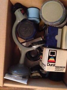 Box of random older camera gear