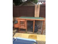 """Rabbit / Chicken house 5 foot 6"""" x 2 feet 6"""" wooden"""