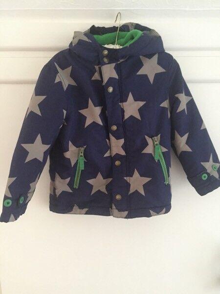 Boys mini boden star print coat 4-5 years VGC