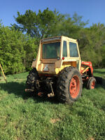 Case 870 tractor with front end loader and 3 point hitch