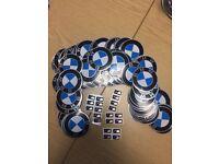 BMW self adhesive wheel badges