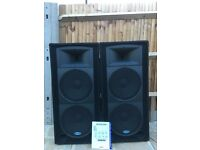 Samson resound RS215 front of house pa speakers