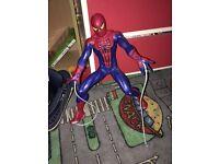 Web slinging Spider-Man