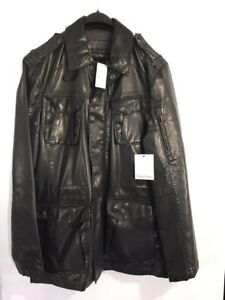 Calvin Klein men's leather jacket brand new with tags fits M/L