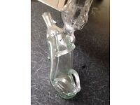 Glass bottles chicken & shoe shaped