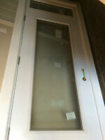 New!! Metal door with transom, 36 inches wide x 101 inches tall