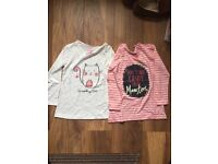 Pack of 2 Girls long sleeved tops new with tags