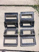 1969-70 MUSTANG & COUGAR CAMERA BLACK RADIO BEZELS & MORE