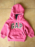 Girls Baby Gap Size 12-18 Month Fleece Hoodie