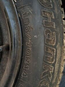 195/70R14 winter tires and rims Kitchener / Waterloo Kitchener Area image 2
