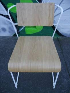 New Jess Cafe Restaurant Scandi Metal Timber Dining Chairs