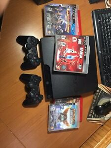 PS3 with 2 controllers and free games