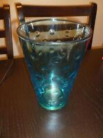 Vintage Glass Vase/Cocktail Pitcher - Hazel Atlas Skol Capri Dot