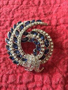 Rhinestone Jeweled Brooch