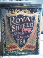 Vintage Royal Shield collected tea can