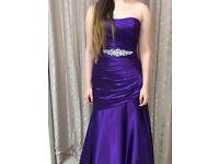 Floor length purple dress