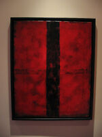 RED INTERSECTION #1    24 x 30 oil painting
