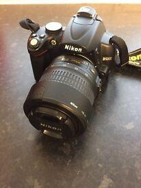 Nikon D5000 DSLR with 18-55mm + 55-200mm lenses