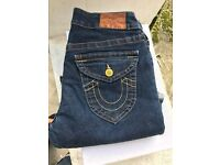 True Religion ladies jeans boot cut size 28