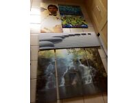 Wall art canvas x 4 prints pictures al Pacino waterfall graffiti large
