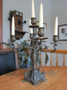 Chandelier Laiton 5 branches collection  hallendale  ITALIE