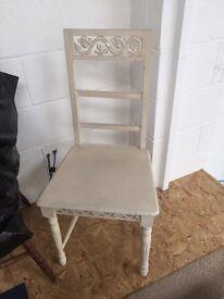 Cream vintage chair