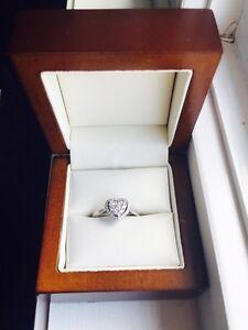 Beautiful diamond heart ring