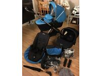 Silver Cross Wayfarer Travel System - includes Changing Bag, Isofix & Raincovers