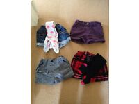 Girls shorts for sale (two pairs with tights)