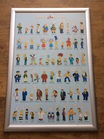 The Simpson's collectible framed poster