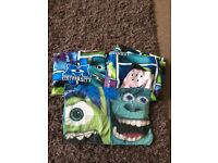 Monsters inc junior quilt cover, pillow and curtains