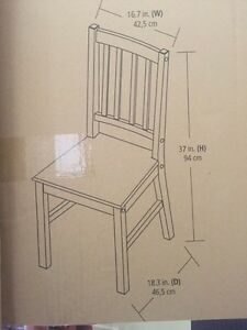 Brand new set of two ladder dining chairs Kitchener / Waterloo Kitchener Area image 4