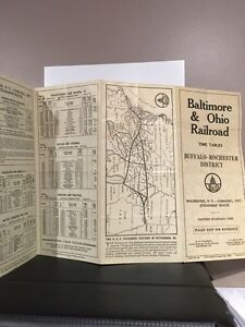 Old paper railroad time tables Buffalo-rochester Peterborough Peterborough Area image 3