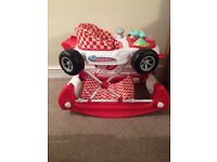 Red Car Baby Walker and Rocker (2 in 1)