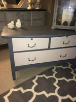 Elegantly Refinished Annie Sloan Chalk Painted Antique Chest!