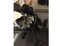 Golf set, with cart bag and trolley